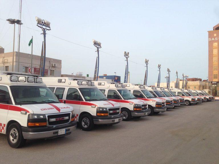 (32) فرقة إسعافية للهلال الأحمر السعودي بقمة الظهران ...